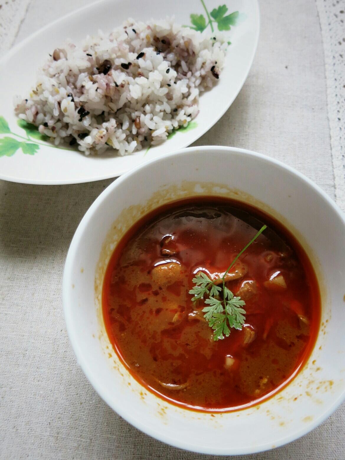 タイカレーの缶詰め / 生食用アンズ @マツヤ_f0236260_12105740.jpg