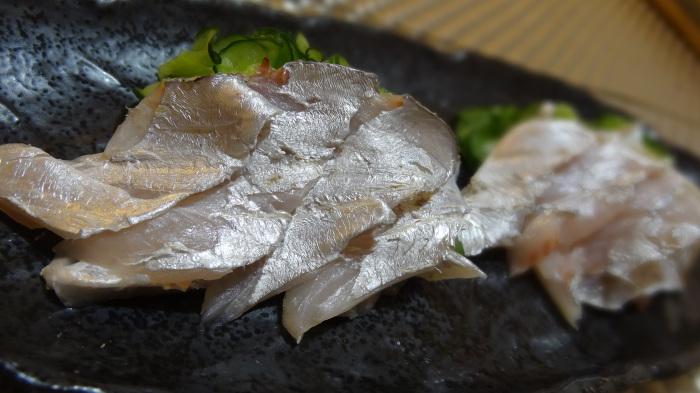 太刀魚のお刺身&すねたちょこ_b0290816_23155711.jpg