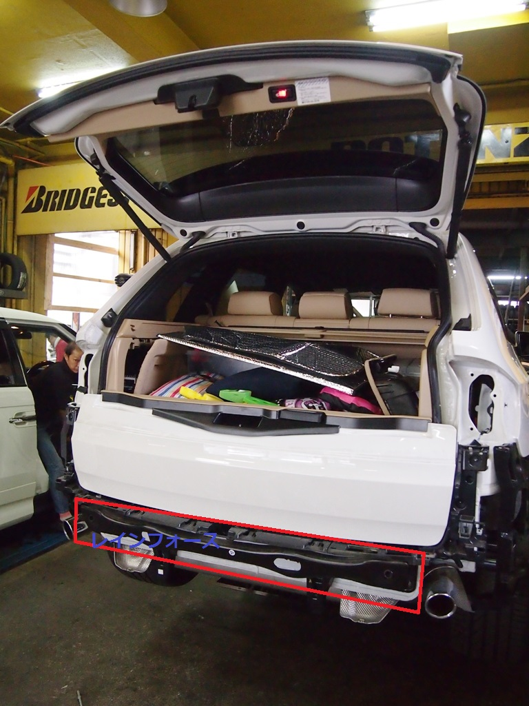 BMW・E70系X5にヒッチメンバー取付_e0188729_1154462.jpg