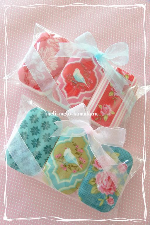 ◆デコパージュ*布でもできます、『Tilda』の石鹸_f0251032_21402589.jpg