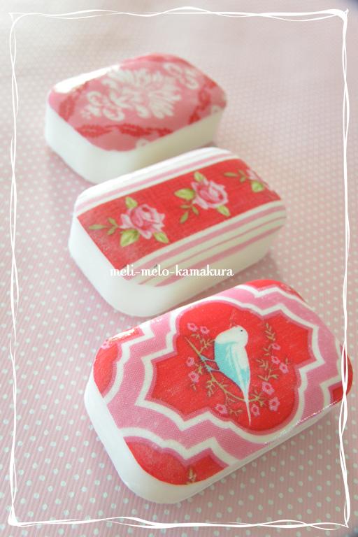 ◆デコパージュ*布でもできます、『Tilda』の石鹸_f0251032_21411661.jpg