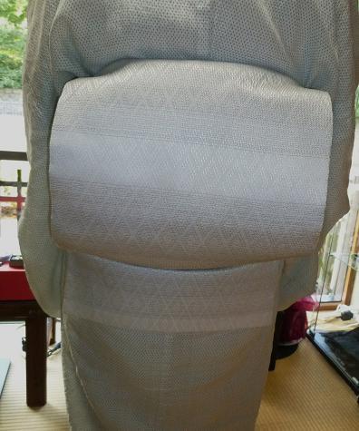 涼しげな越後上布に、羅紗織の帯のお客さま。_f0181251_1711431.jpg