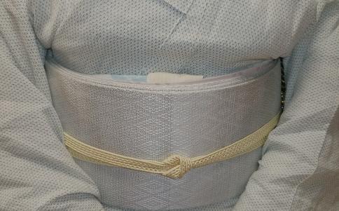 涼しげな越後上布に、羅紗織の帯のお客さま。_f0181251_17143719.jpg