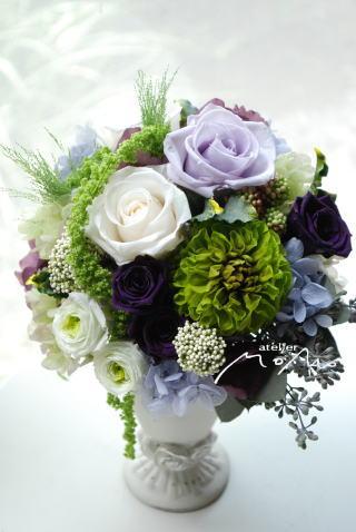 ホワイト&ラベンダーのお花で♪_a0136507_21364295.jpg