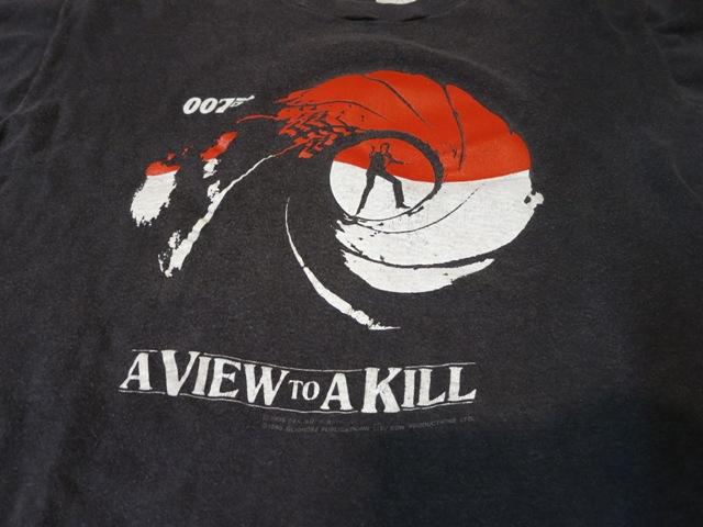7月26日(土)入荷!80年代 007 A VIEW TO KILL Tシャツ!_c0144020_1423261.jpg