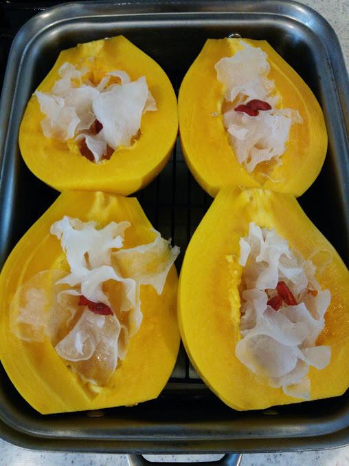 「木瓜雪耳甜湯」パパイヤと白きくらげのシロップ煮_a0169924_16325461.jpg
