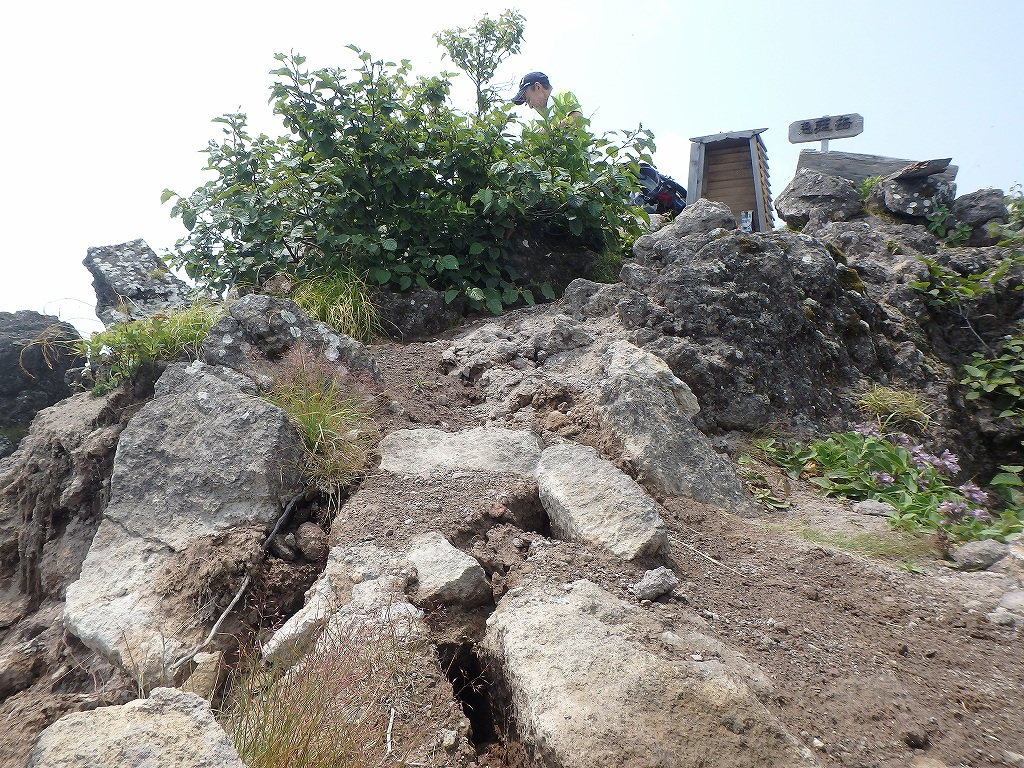 地震後の恵庭岳、再び 7月25日_f0138096_2294441.jpg