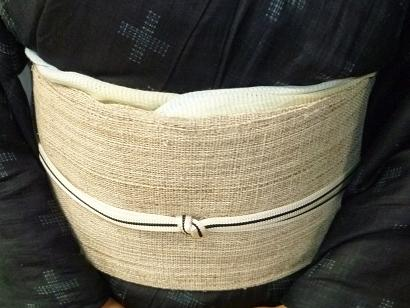 野田淳子さん、素敵な宮古上布に藤布の帯。_f0181251_12354630.jpg