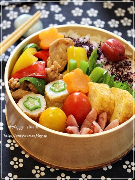 肉野菜炒め弁当♪_f0348032_19033042.jpg