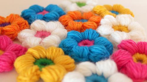 玉編みフラワー