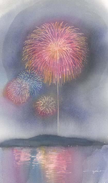鹿児島 山形屋 春崎幹太・陽子 水彩画二人展_f0176370_13491447.jpg