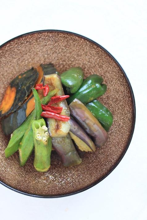 レシピ「夏野菜の南蛮漬け」とル・ノーブルさんのきらきら光る幸せのガラス食器のこと♪_a0154192_10255866.jpg