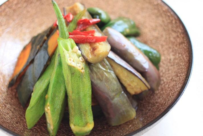 レシピ「夏野菜の南蛮漬け」とル・ノーブルさんのきらきら光る幸せのガラス食器のこと♪_a0154192_10263044.jpg