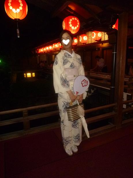 上七軒ビアガーデン・マサヨさんのお友達の浴衣姿。_f0181251_17451198.jpg