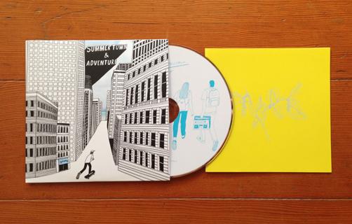 【design】ヤング 1stシングル「サマータウンとアドベンチャー」_c0146191_21143121.jpg
