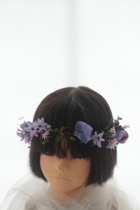 紫色の生花の花冠 _a0042928_0858.jpg