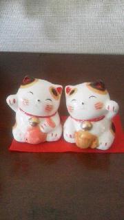 お稽古風景 招き猫のこと_b0299052_17504267.jpg