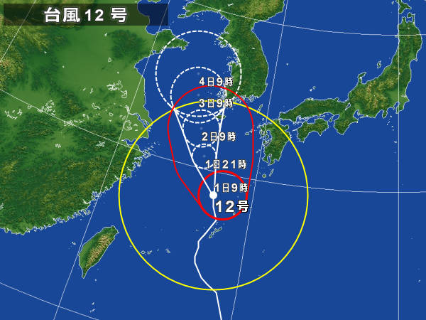 台風12号と大濠花火大会_d0116009_1043213.jpg