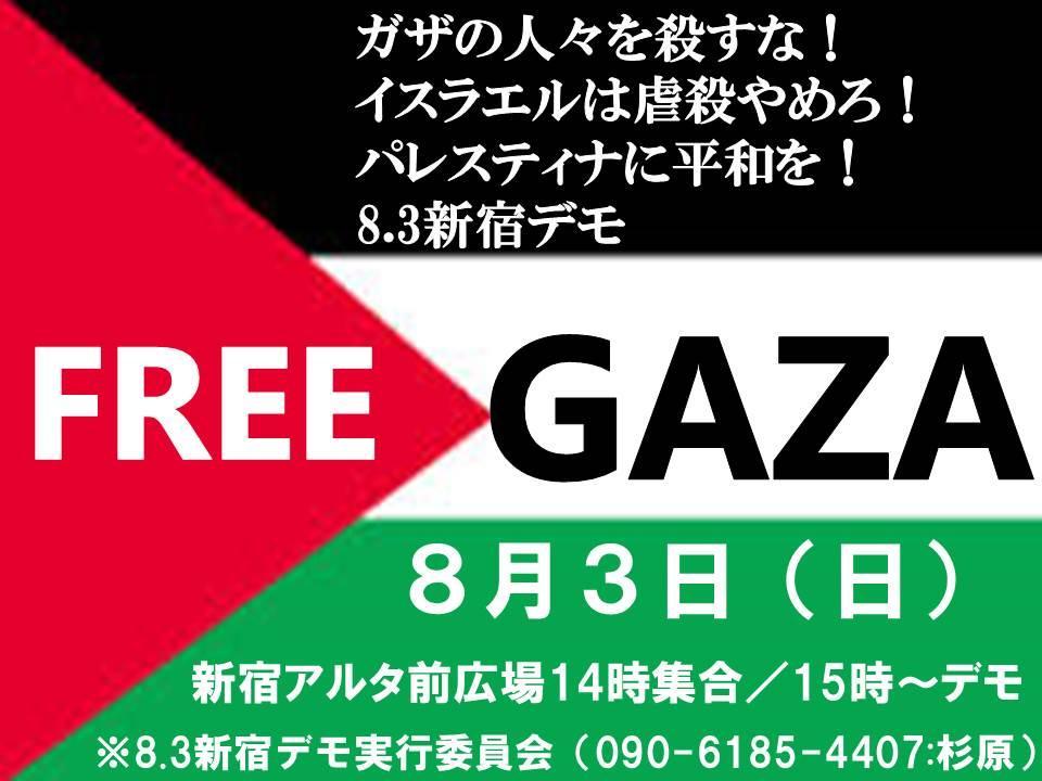 8/2 新宿でガザの人々を殺すなデモ 600人が参加_f0212121_20561489.jpg