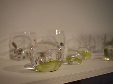 高城加世子さんのガラスペーパーウエイト/雨、海、虹_b0322280_2050722.jpg