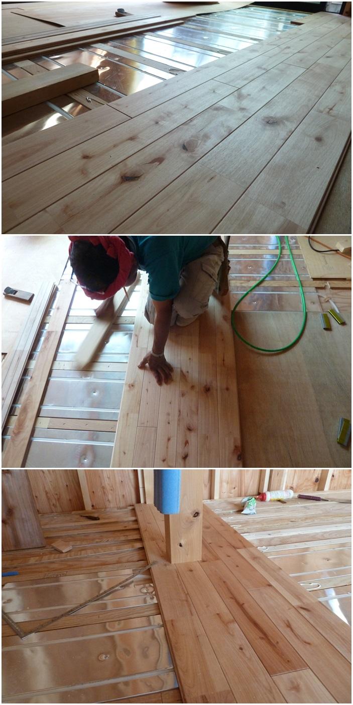 鎌倉の家☆床材を貼っています_c0152341_1015550.jpg