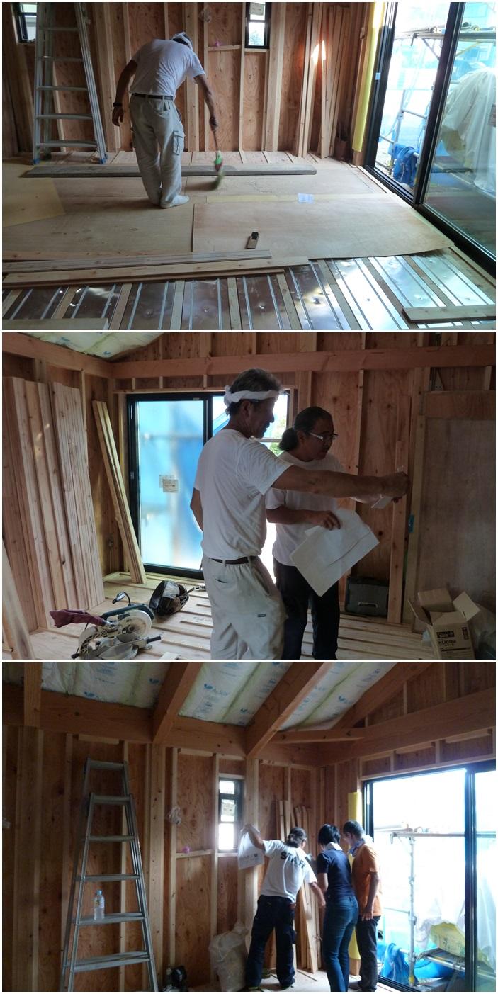 鎌倉の家☆床材を貼っています_c0152341_109984.jpg