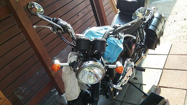 バイクにスクリーンを取り付けてみた_e0173183_2111445.jpg