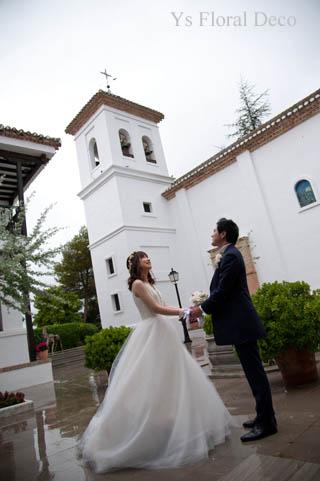 華奢な白い花冠 スペインへ_b0113510_20301488.jpg