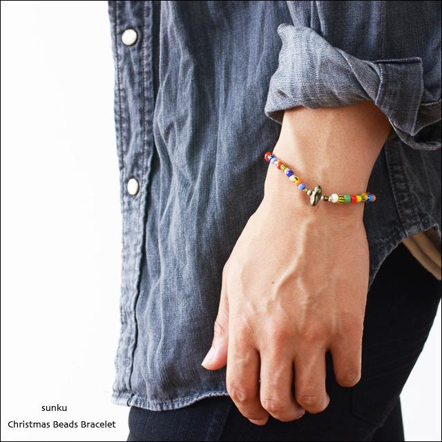Sunku 39 [サンク] Christmas Beads Bracelet/クリスマスビーズブレスレット [SK-003]_f0051306_16562225.jpg