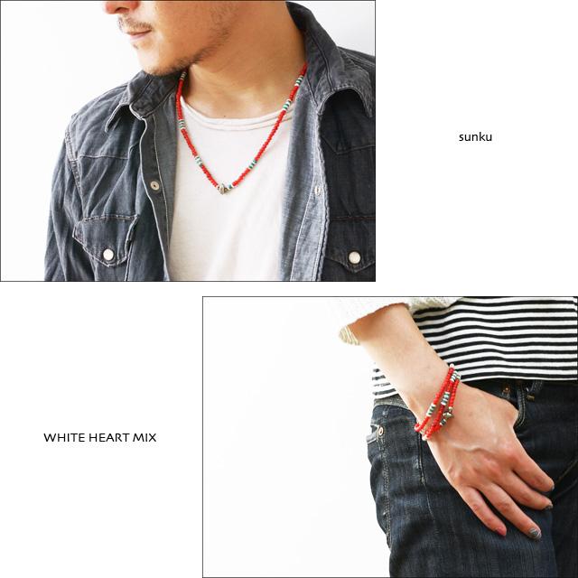 Sunku 39 [サンク] WHITE HEART MIX NECKLACE&BRACELET [SK-088] ホワイトハーツミックス_f0051306_16595022.jpg