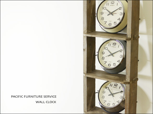 PACIFIC FURNITURE SERVICE [パシフィックファニチャーサービス]WALL CLOCK[OC143W,N,S]_f0051306_19434480.jpg