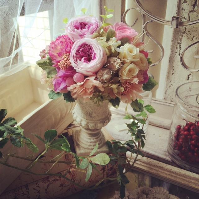 ご結婚お祝いの贈り花_e0128024_1232157.jpg