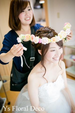 シュガートーンの淡い色合い 花冠&ブーケ 大阪へ_b0113510_0245996.jpg