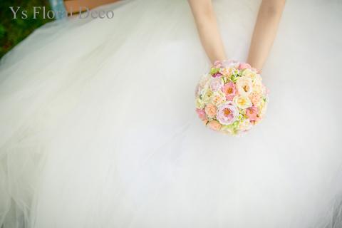 シュガートーンの淡い色合い 花冠&ブーケ 大阪へ_b0113510_025254.jpg