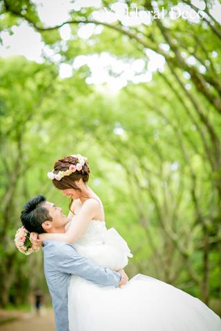 シュガートーンの淡い色合い 花冠&ブーケ 大阪へ_b0113510_027272.jpg