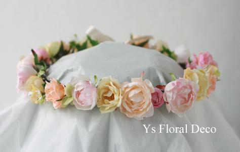 シュガートーンの淡い色合い 花冠&ブーケ 大阪へ_b0113510_0273189.jpg