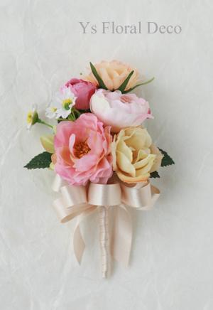 シュガートーンの淡い色合い 花冠&ブーケ 大阪へ_b0113510_0275080.jpg