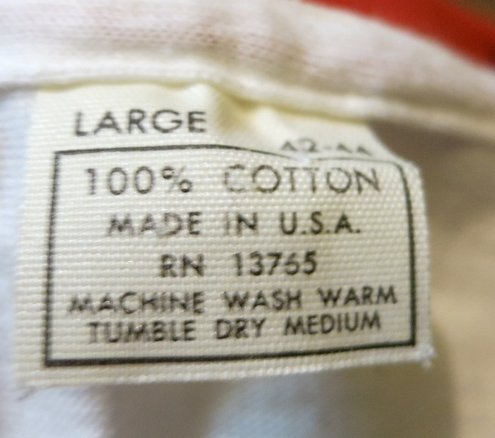 8月9日(土)入荷!70'S デッドストック 染込みプリント リンガーTシャツ!_c0144020_1865172.jpg
