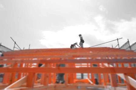 真夏の建て方工事中!!_a0128408_176449.jpg