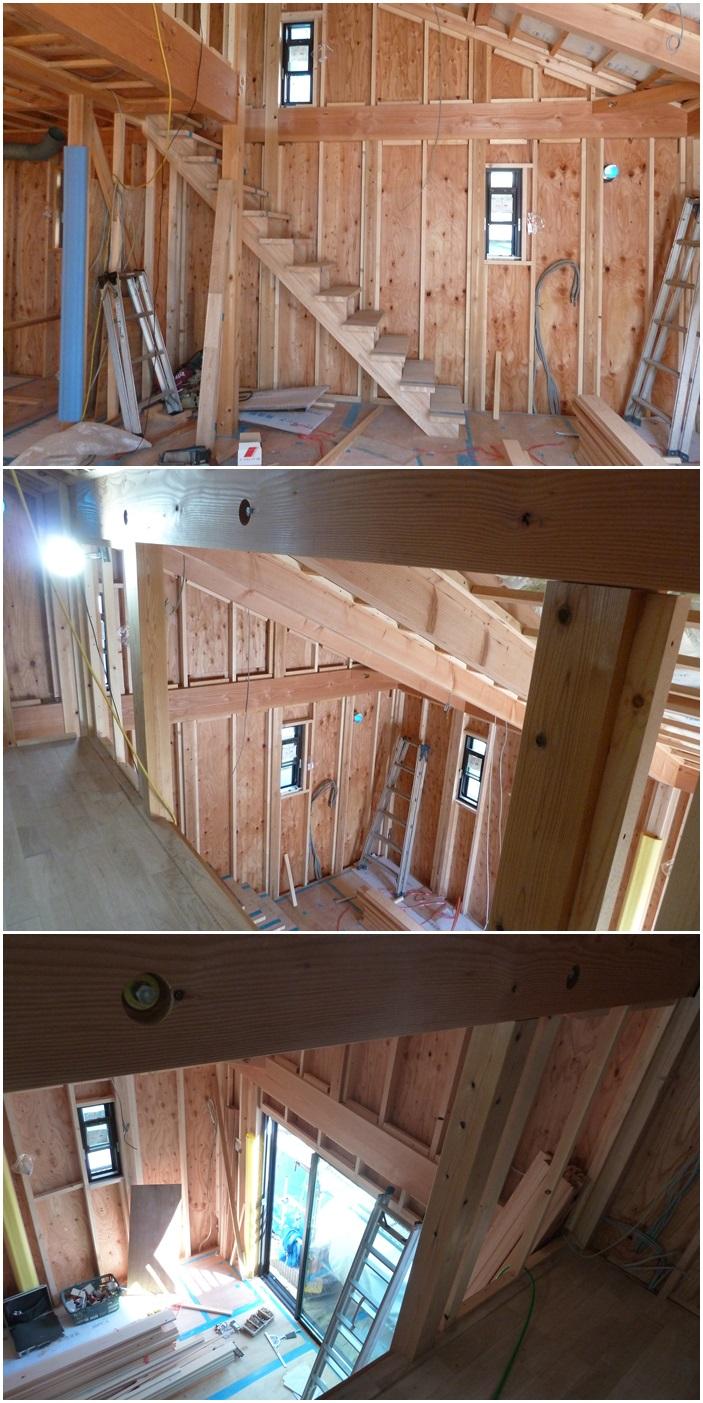 鎌倉の家☆階段が付きました_c0152341_835346.jpg