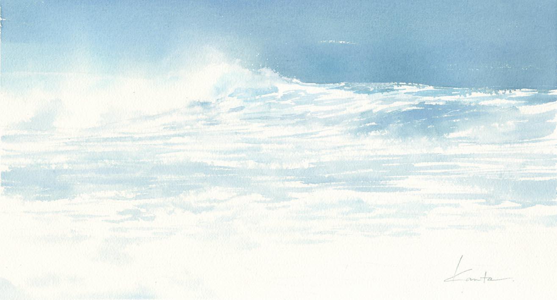 風波 水彩画_f0176370_15391420.jpg