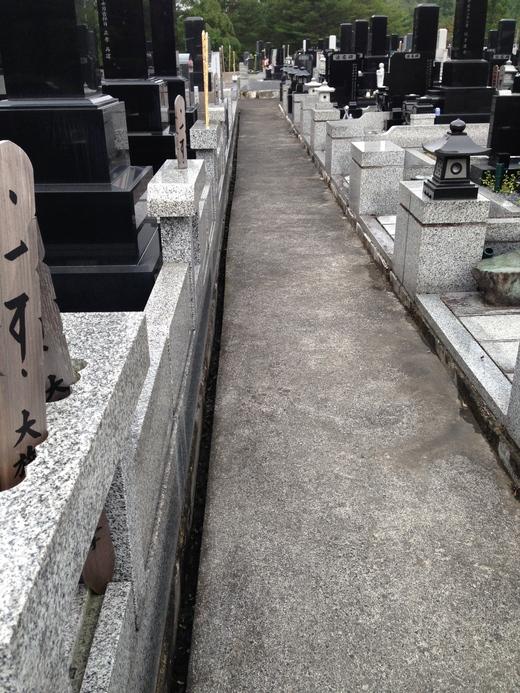 お盆の準備  お墓を清掃して頂きました。_a0274383_20462969.jpg