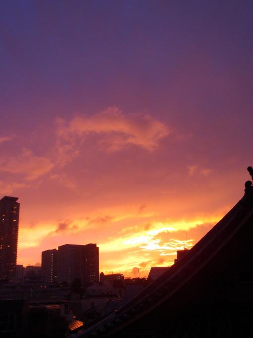 台風と夕焼け_a0231828_22425822.jpg