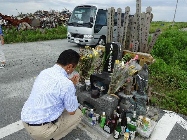 7月27日(日) 福島県浪江町を視察(線量計を持って)_e0093518_14445433.jpg