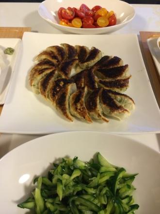 野菜餃子・・・8/11①_b0247223_20494323.jpg