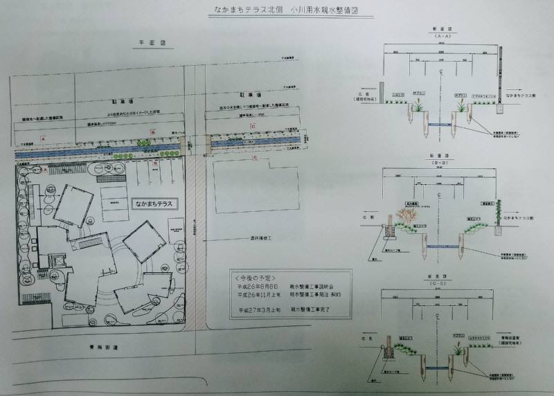 仲町公民館図書館北側用水路親水整備_f0059673_742514.jpg
