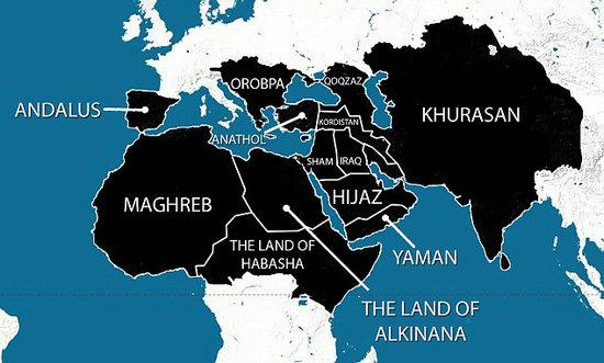 伊斯蘭國(ISIS)聖戰黑旗上的文字_e0040579_139440.jpg