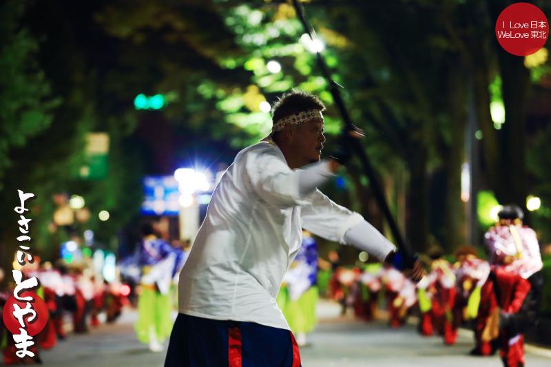 よさこいとやま2014-写真撮影記04「HOT@炎雄」城址大通り夜編_b0157849_21245475.jpg