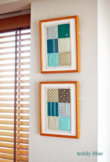 framed patchwork quilt  パッチワークキルトを飾って_e0253364_1424924.jpg