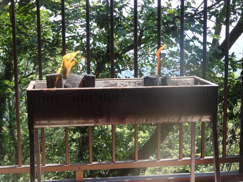 鹿野山の別荘で、炭火焼きのバーベキューパーディーです。_c0225997_9265418.jpg